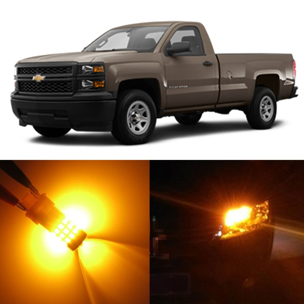 Alla lighting turn signal light 3157a amber led bulbs for - Led interior lights for 2013 chevy silverado ...