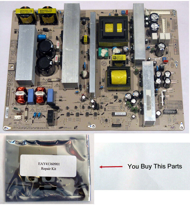 lg plasma tv power supply board eay41360901 repair kit ebay. Black Bedroom Furniture Sets. Home Design Ideas