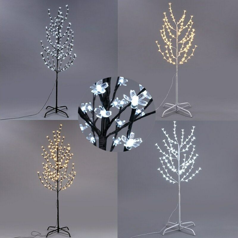 Led cherry blossom tree 4ft 108 lights floor lamp holiday for Cherry tree floor lamp