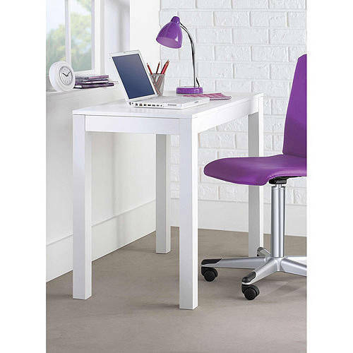 Mainstays Furniture Parsons Desk with Drawer White NEW