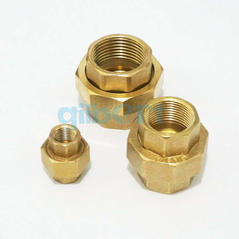 Brass pipe union connector adapter quot bsp female
