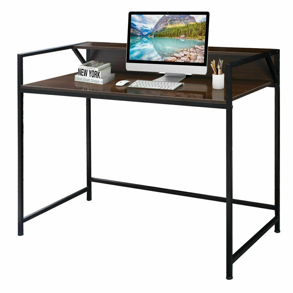 Modern computer laptop desk study workstation table home for Home office workstation desk