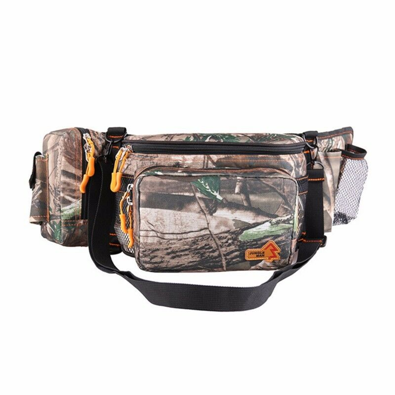 Waterproof camouflage fishing camping hiking belt waist for Fishing waist pack