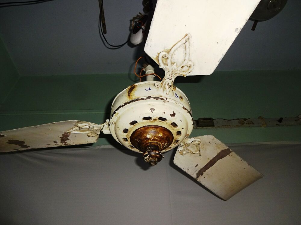 Old Ceiling Fans : Antique ceiling fan marelli italy vintage electric old