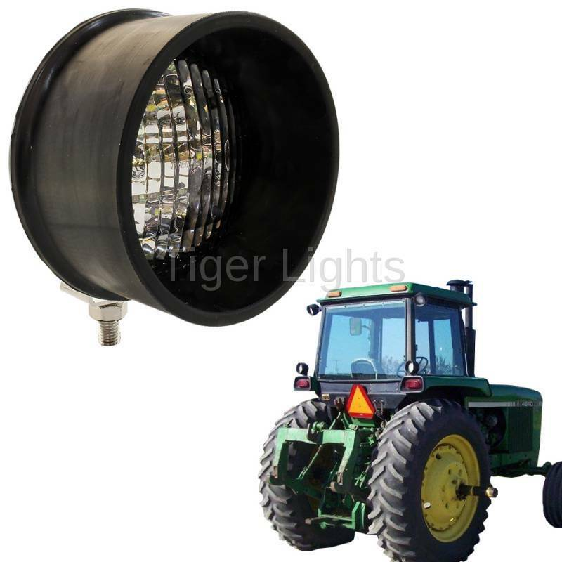Case Ih D25 Headlight Bulb : Led round tractor light bottom mount ebay