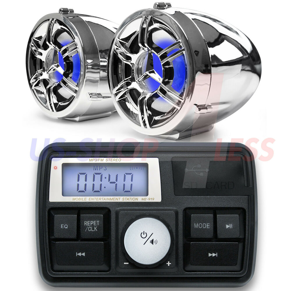 Bluetooth Motorcycle Audio Amplifier Stereo Speaker System