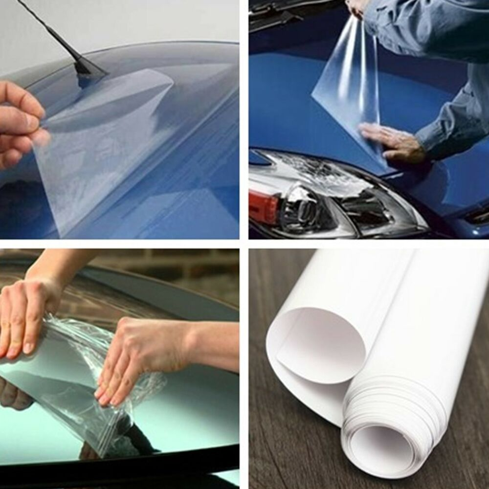 car body exterior interior protect anti scratch clear film vinyl sheet 40 200cm ebay. Black Bedroom Furniture Sets. Home Design Ideas