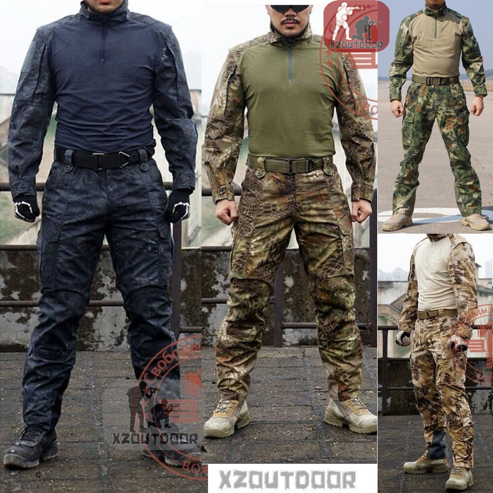 Airsoft Military Tactical Combat Shirt Pants Suit Special ...