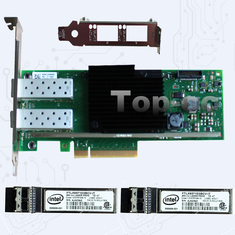 Intel10Gbps PCI-e(3 0) x8 X710-DA2 Ethernet Server Adapter & Intel 850nm  Module | eBay