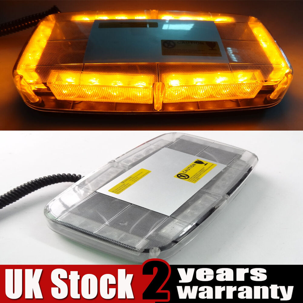 12v amber led car roof lightbar magnetic flashing recovery. Black Bedroom Furniture Sets. Home Design Ideas