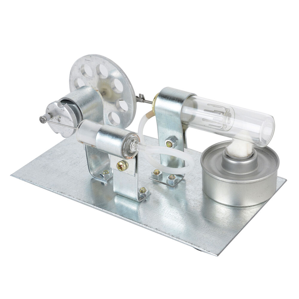Mini stirling engine motor model hot air steam powered toy for What is air motor