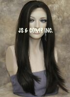 Heat OK minimal Lace Front wig Straight Long Brown Mix