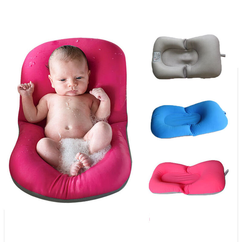 baby bath tub pillow pad lounger air cushion floating soft seat infant newborn ebay. Black Bedroom Furniture Sets. Home Design Ideas