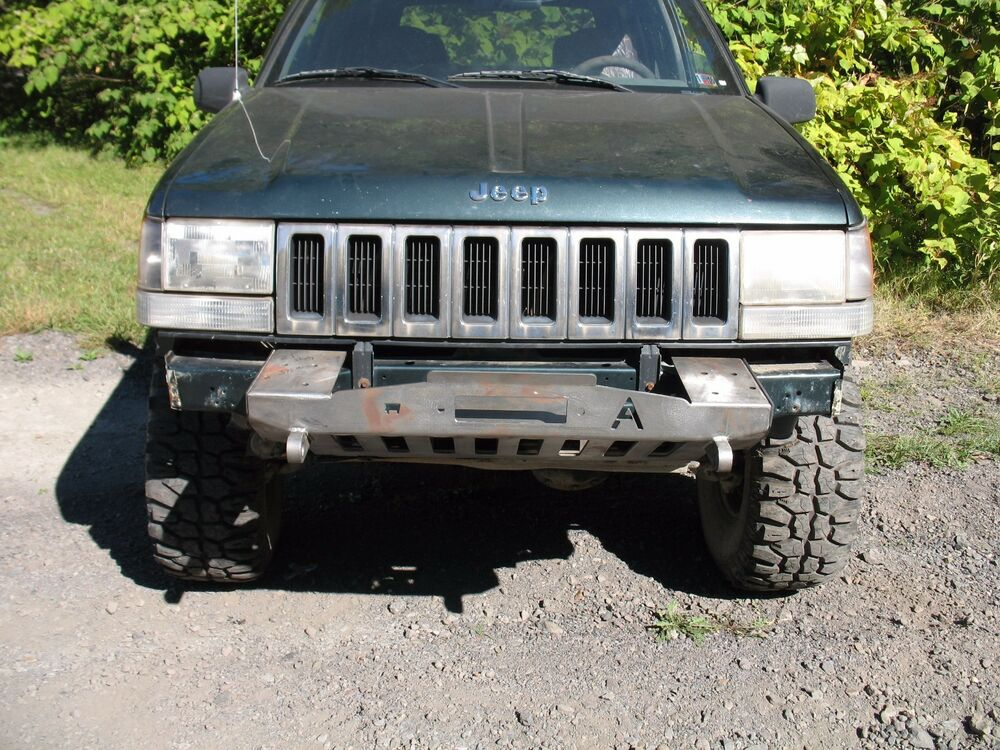 1993 98 jeep grand cherokee zj shorty winch plain front bumper ebay. Black Bedroom Furniture Sets. Home Design Ideas