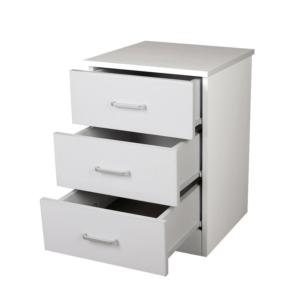 priceworth redfern bedside table chest white 3 drawers fast delivery ebay. Black Bedroom Furniture Sets. Home Design Ideas