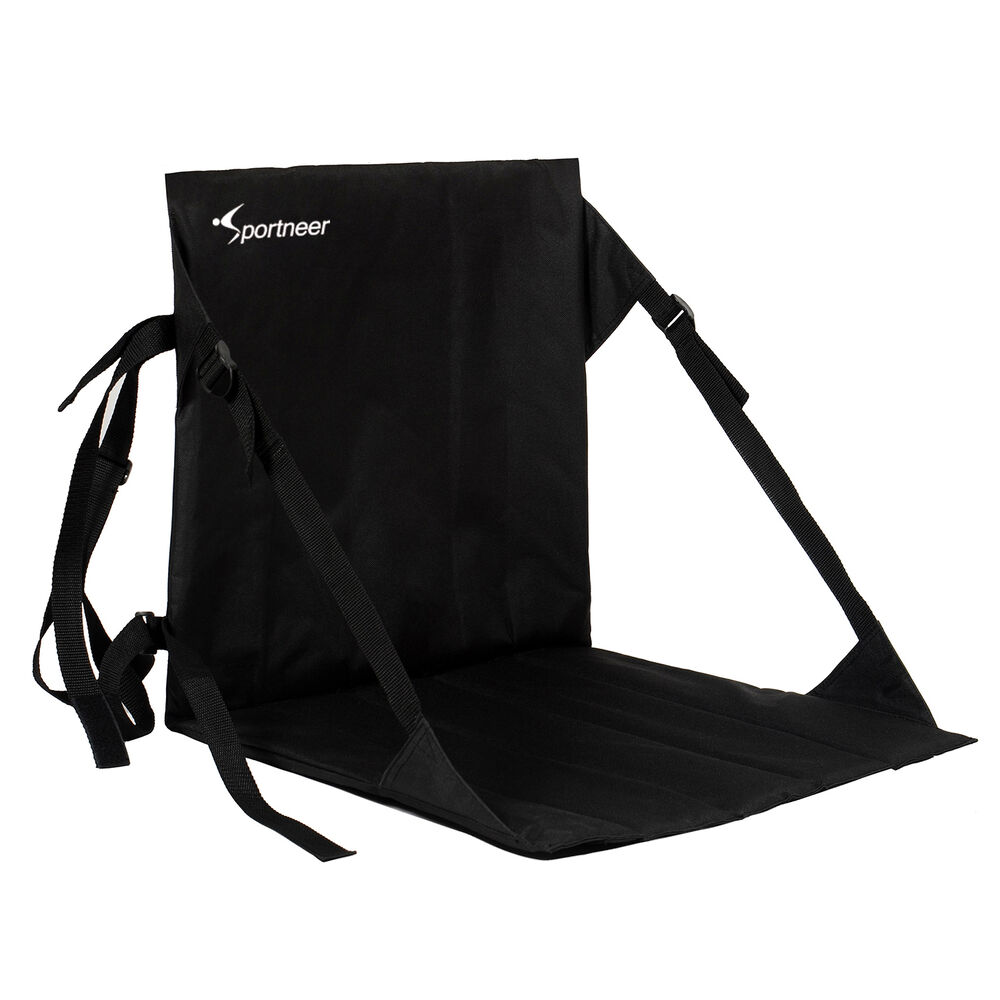 Portable Folding Cushion Chair Outside Caping Stadium Bleacher Back Support Seat
