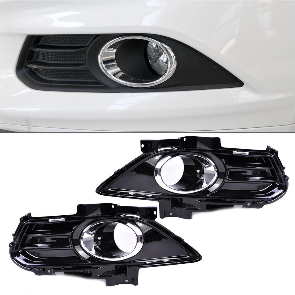 Fog Light Lamp Grill Grille Cover Trim Fit For Ford Fusion