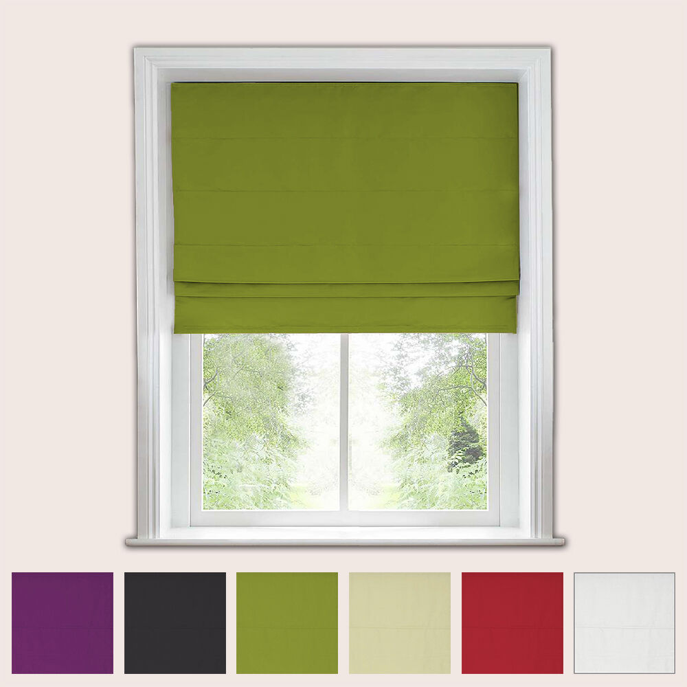 Blackout Roman Blind Trimmable 135cm Drop Ebay
