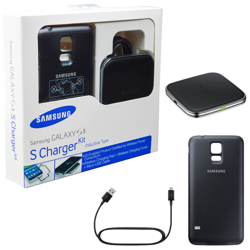 oem samsung galaxy s5 wireless charging cover pad kit ep. Black Bedroom Furniture Sets. Home Design Ideas
