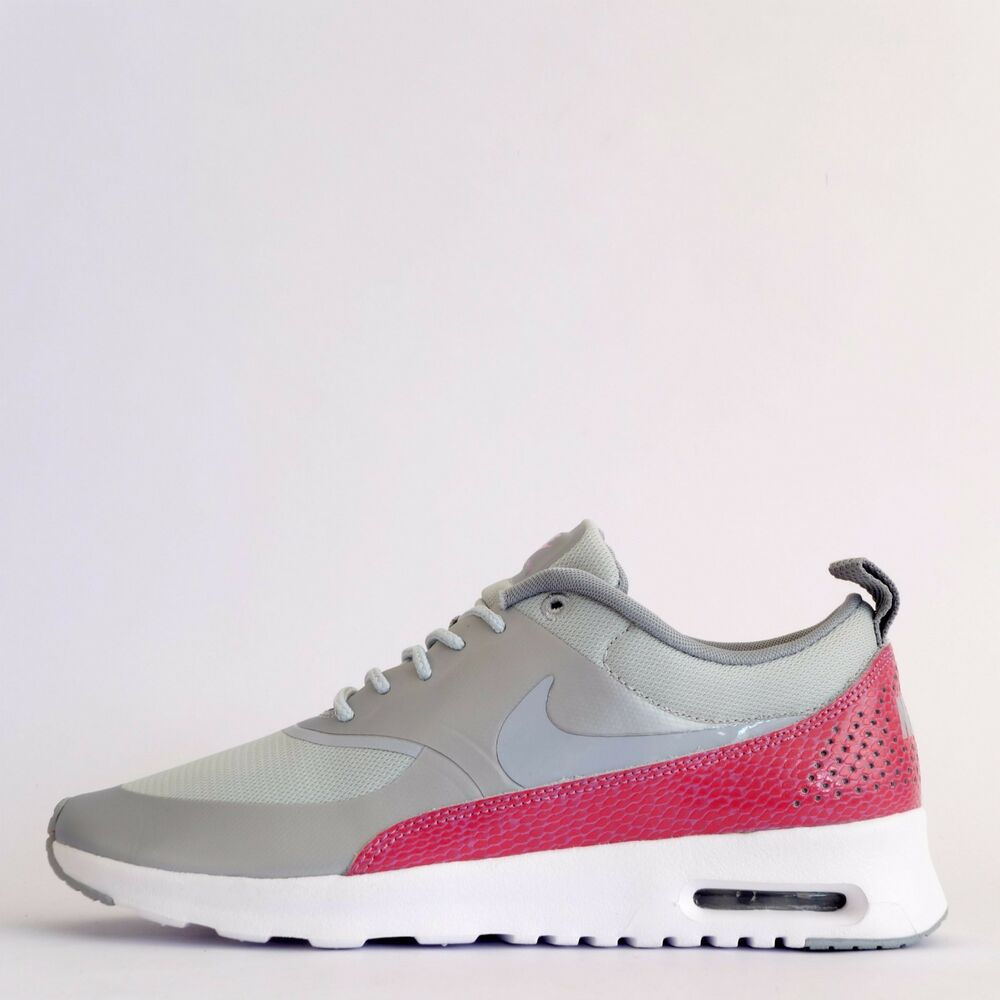 best service 2e872 050fc Details about Nike Air Max Thea Premium Snake Womens Casual Trainers Shoes  Sneakers Grey