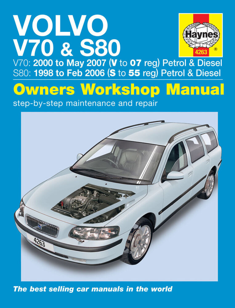 haynes manual volvo v70 s80 series 1998 2007 new 4263 ebay rh ebay com 1998 volvo s70 owners manual 1998 volvo v70 owners manual