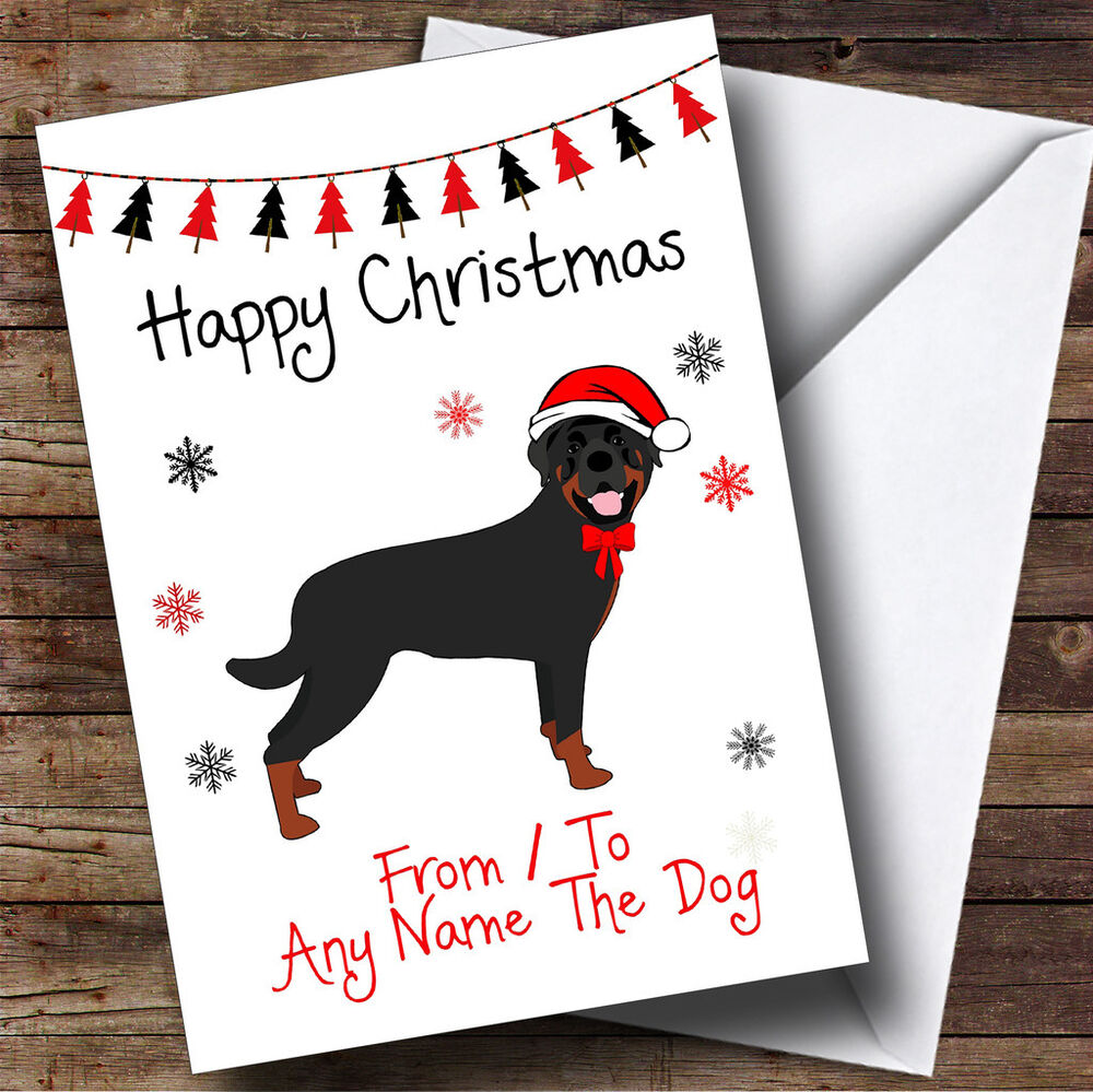Rottweiler From Or To The Dog Pet Personalised Christmas Card | eBay