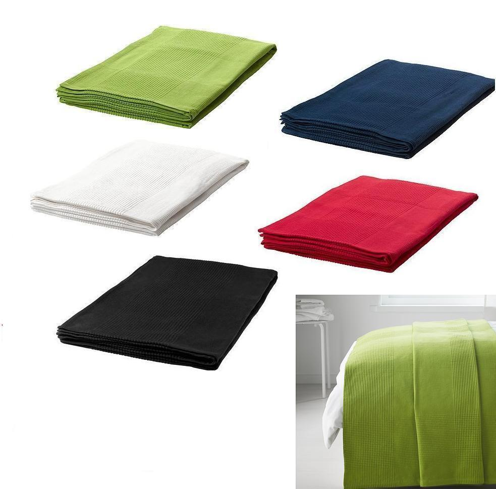 ikea indira bedspread gr n wei blau rot black single double 100 ebay. Black Bedroom Furniture Sets. Home Design Ideas