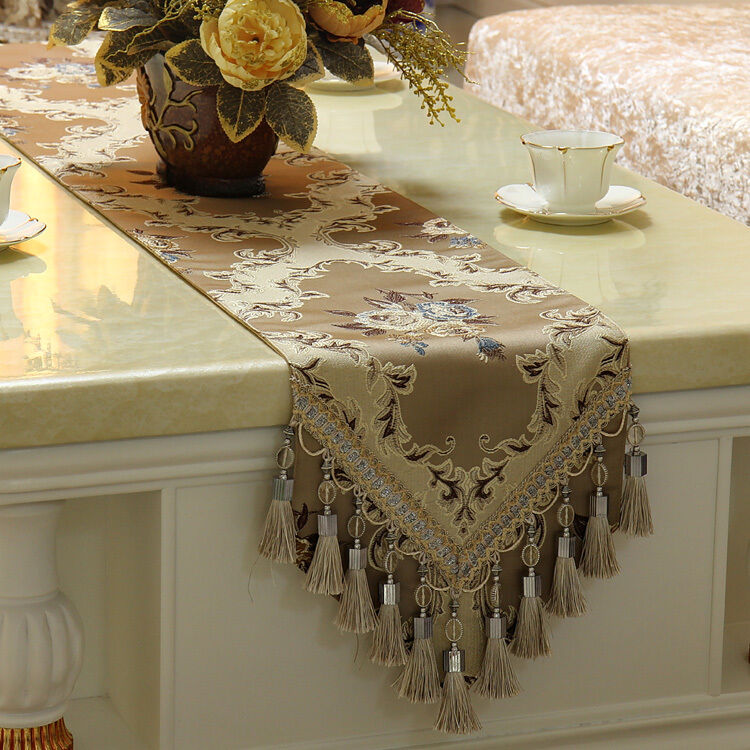 Luxury Embroidery Table Runners Custom Size Elegant Formal  : s l1000 from www.ebay.com size 750 x 750 jpeg 130kB