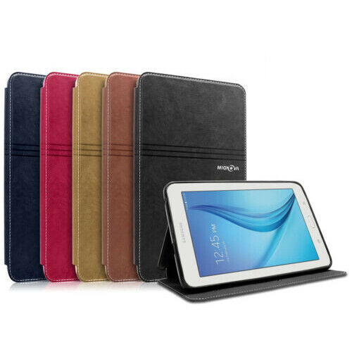 Folio Leather Cover Case For Samsung Galaxy Tab 3 Lite