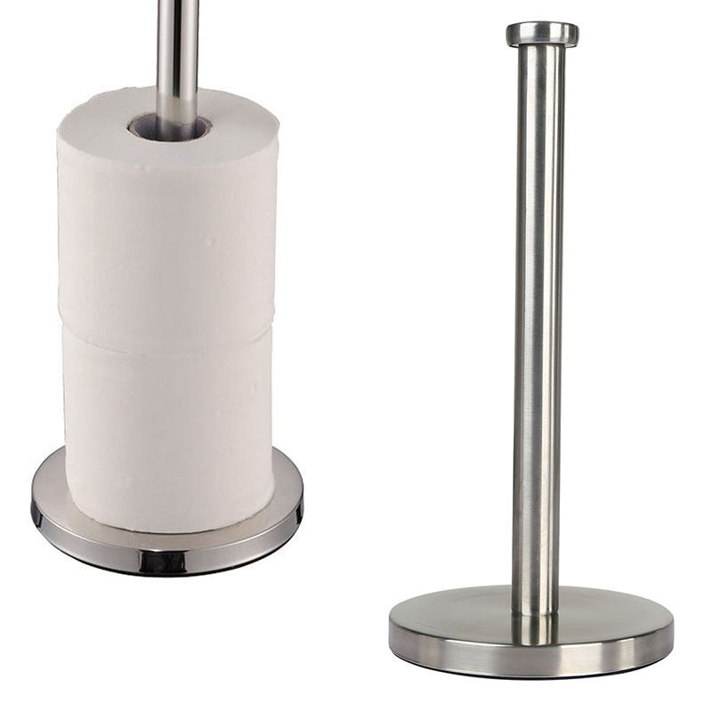 Bathroom Stainless Steel Toilet Paper Roll Stand Tissue Holder Paper Towel Rack Ebay