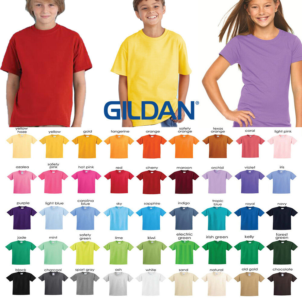 Gildan plain youth tshirt blank youth unisex wholesale for Kids t shirts in bulk