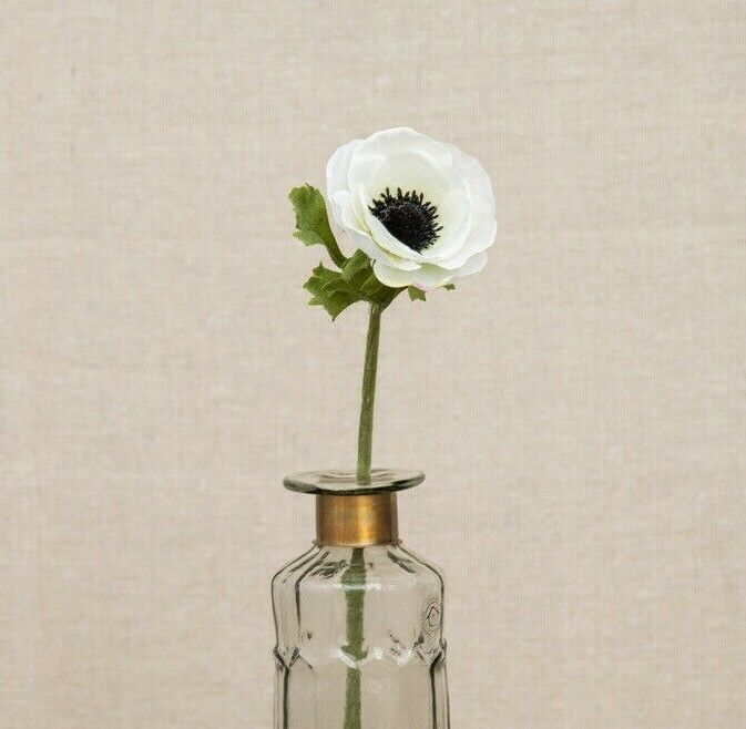 Individual White Anemones Artificial Luxury Faux Silk Anemone