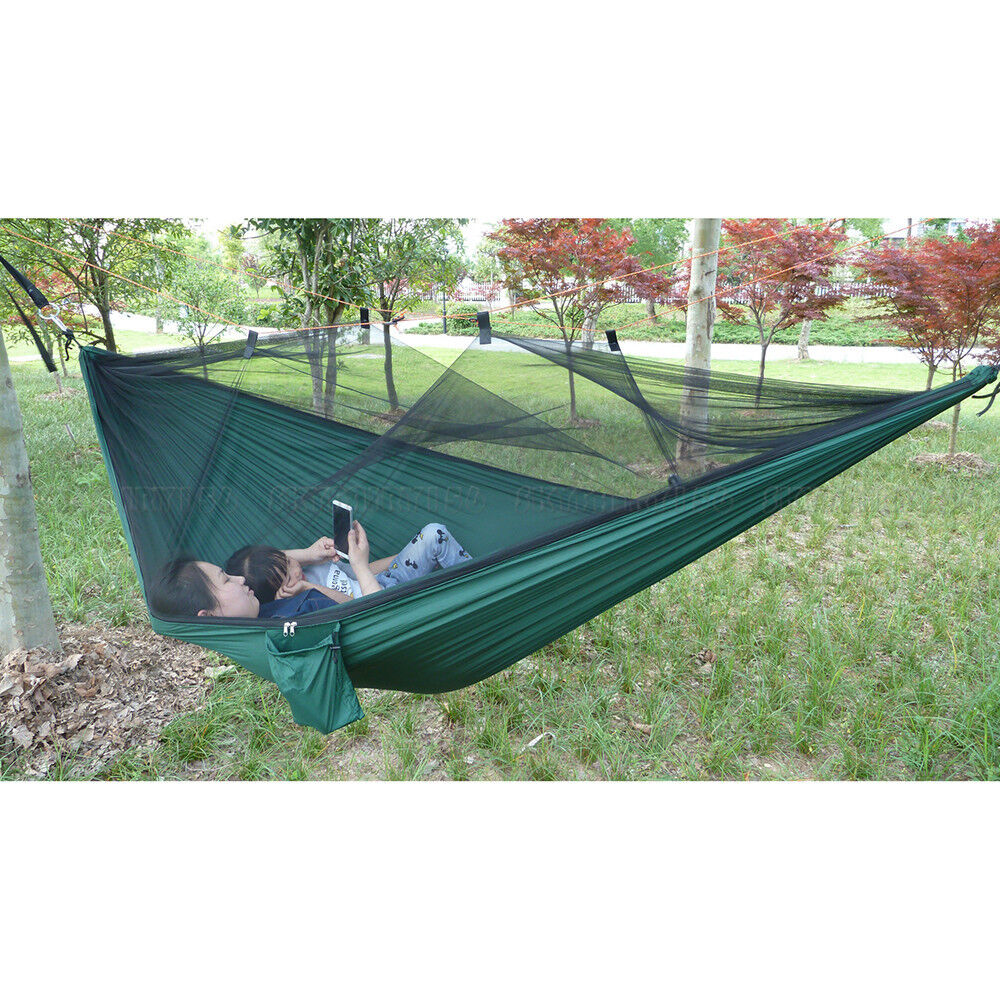 Portable Parachute Nylon Fabric Hammock Two Person Travel