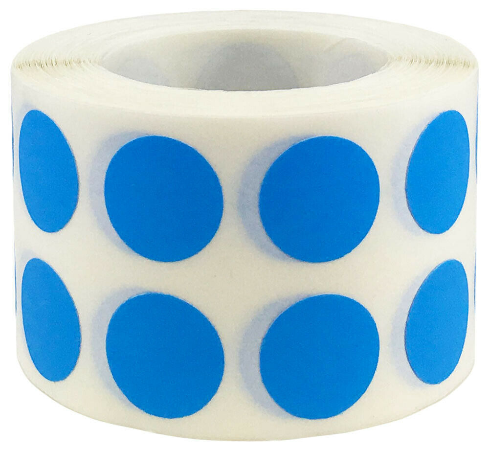 Circle dot stickers 1 2 inch round 1000 on a roll 38 for Half inch round labels
