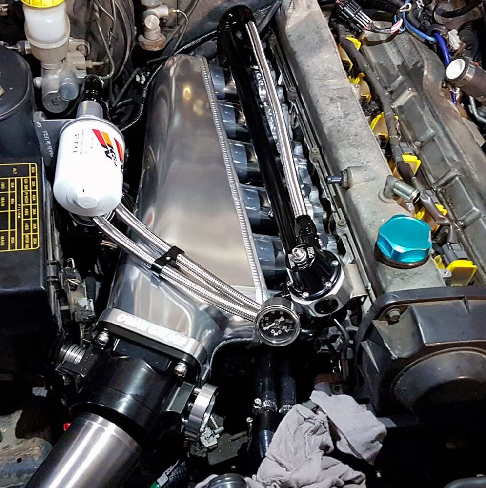 R34 Skyline Billet Intake Manifold/ Forward Facing Plenum ...