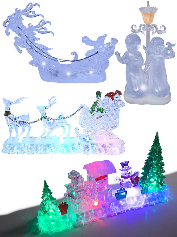 Christmas light up decoration acrylic santa snowman led
