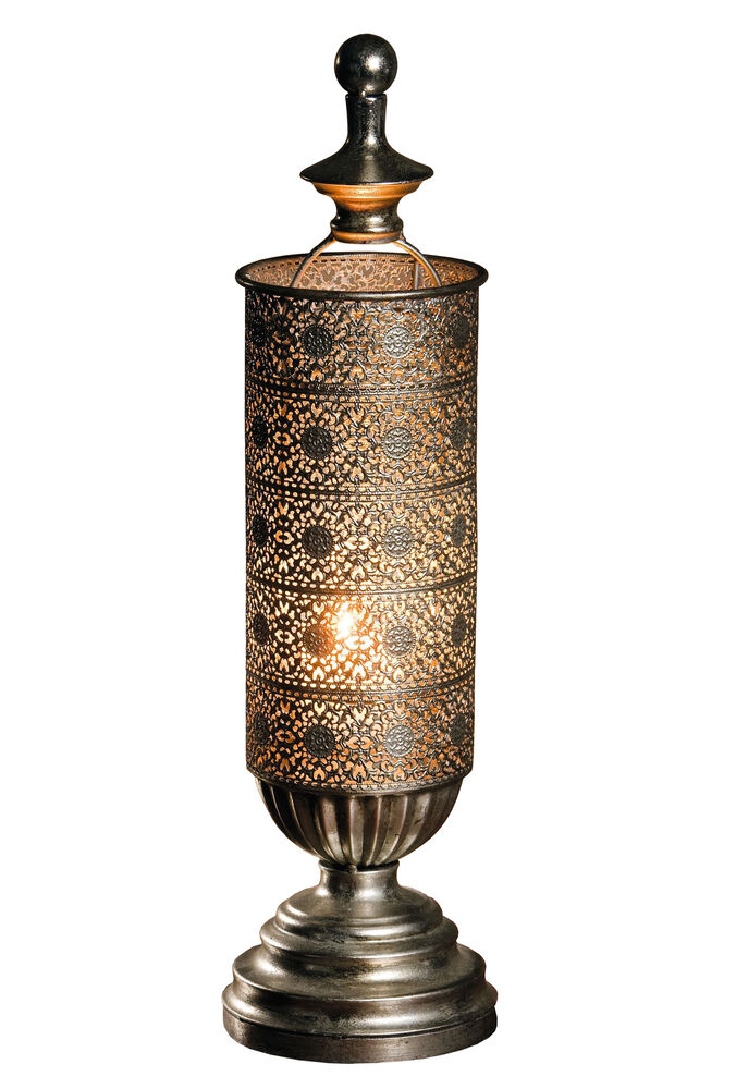 Metal Oriental-style Table Candle Lantern - Mirage Antique ...