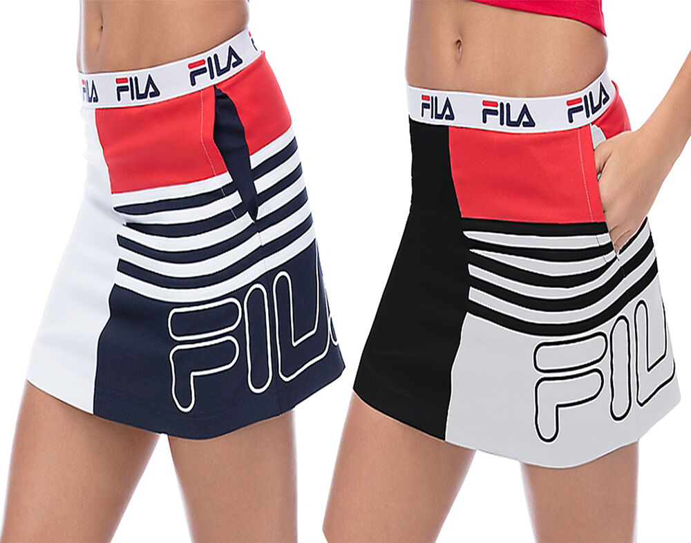 NEW FILA WOMEN sicily skirt SSVIW009 WHITE AND NAVY ...