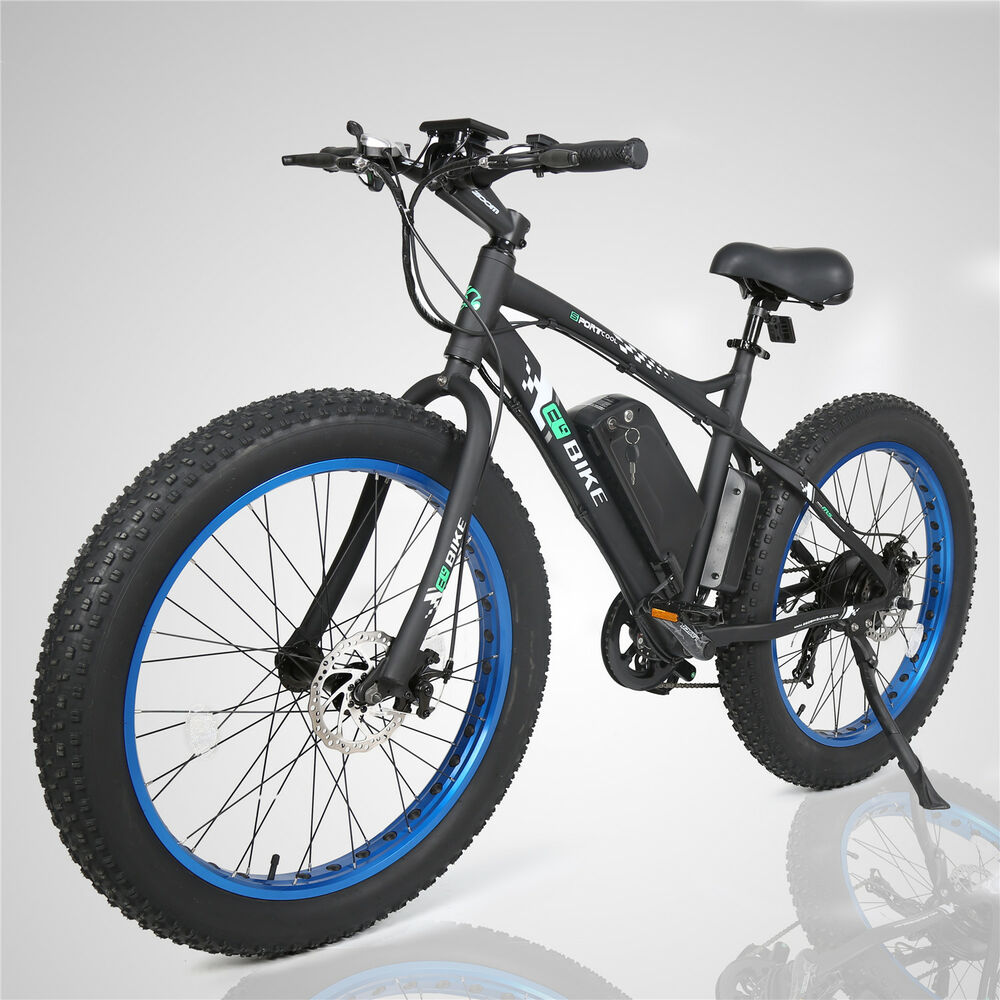 26 4 0 39 39 electric fat tire bike beach snow road bicycle. Black Bedroom Furniture Sets. Home Design Ideas