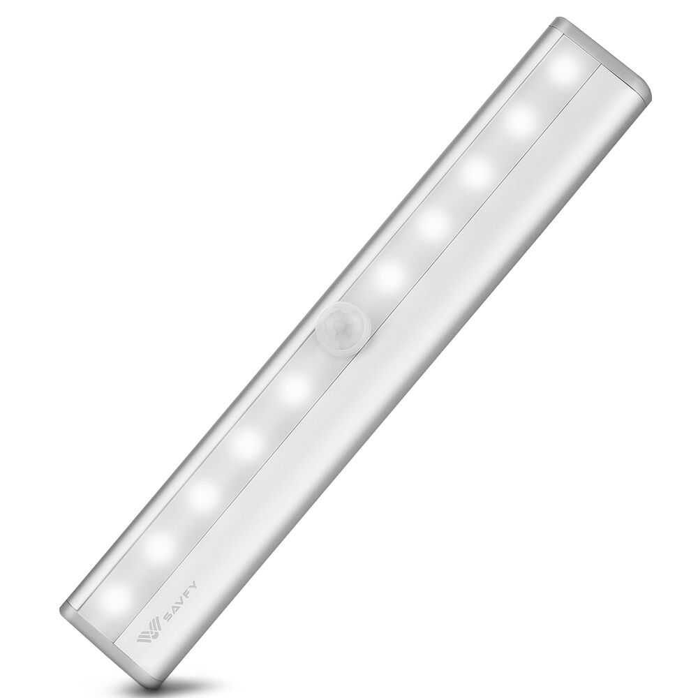 Stick On Motion Sensor Night Light LED Closet Cabinet Lamp