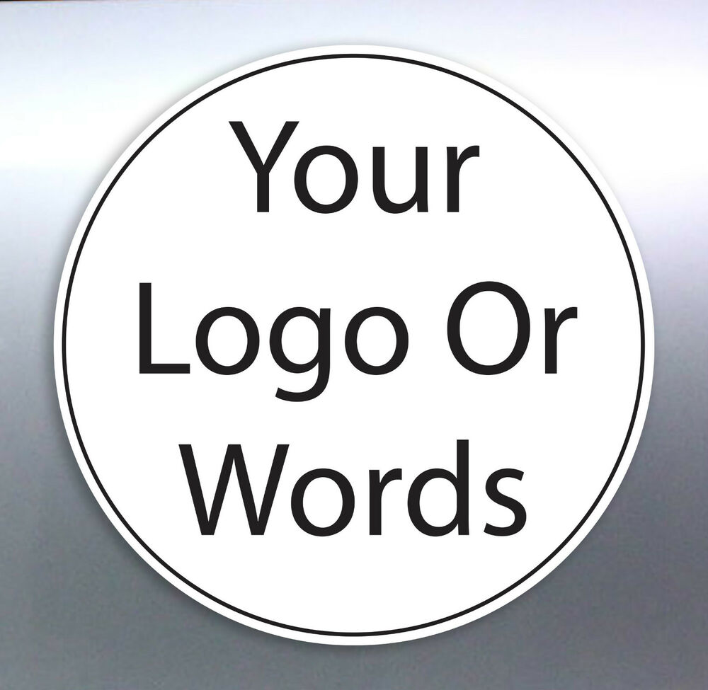 Details about band or gig bumper car stickers size round circle logo work sign custom made
