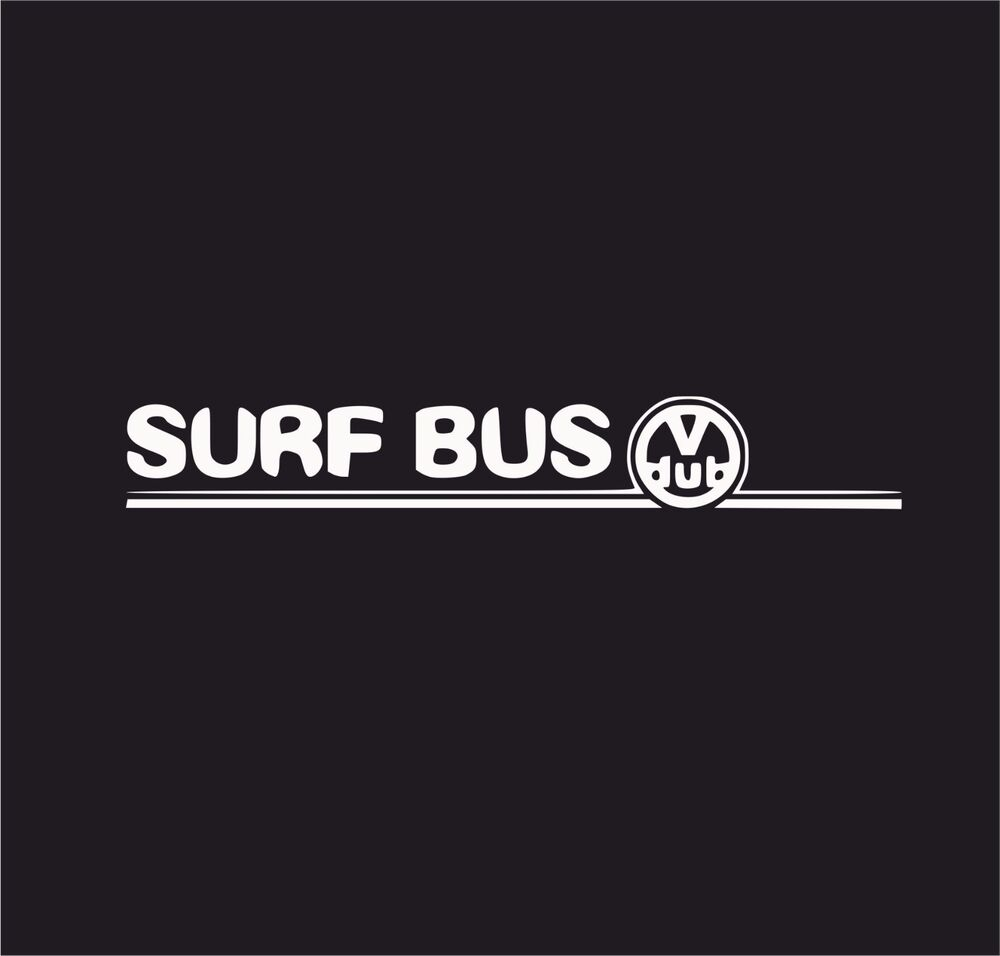 Surf bus hawiian flower t5 t4 t3 vinyl decal sticker euro jdb dub vw funny jap ebay