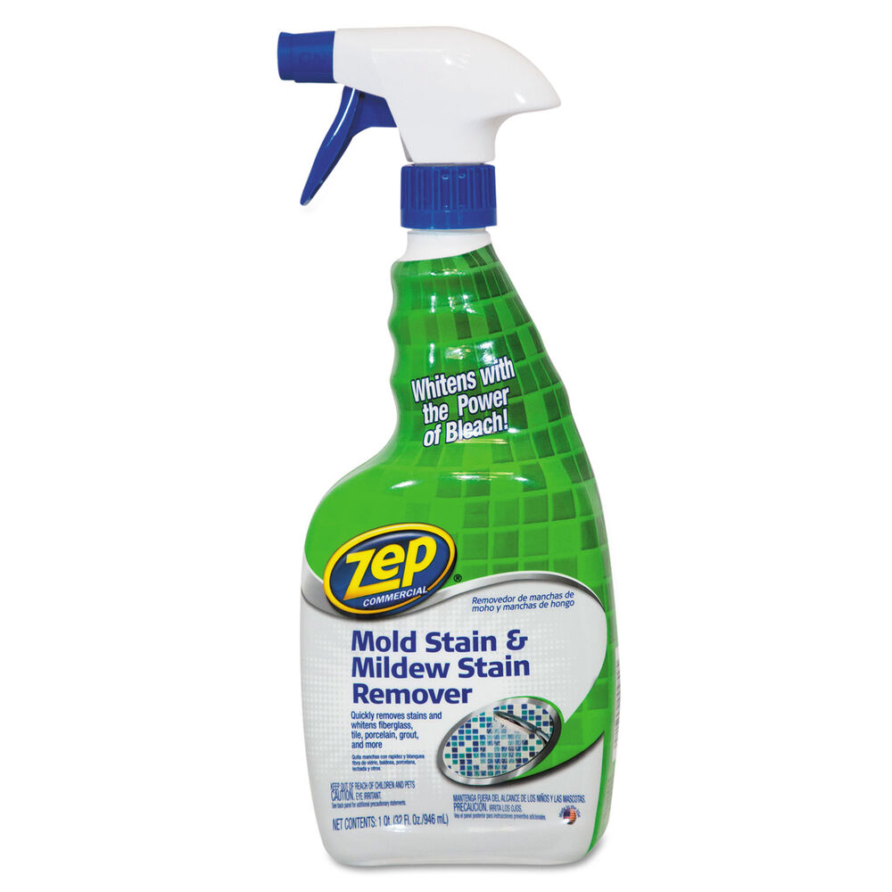 Zep Mold Stain And Mildew Stain Remover 32 Oz Spray Bottle
