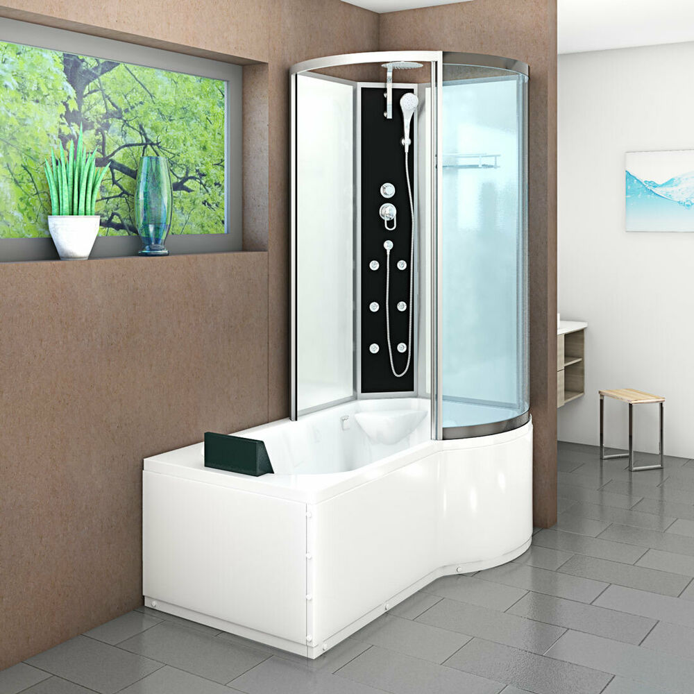 acquavapore dtp8050 a000l wanne duschtempel badewanne dusche duschkabine 170x98 ebay. Black Bedroom Furniture Sets. Home Design Ideas