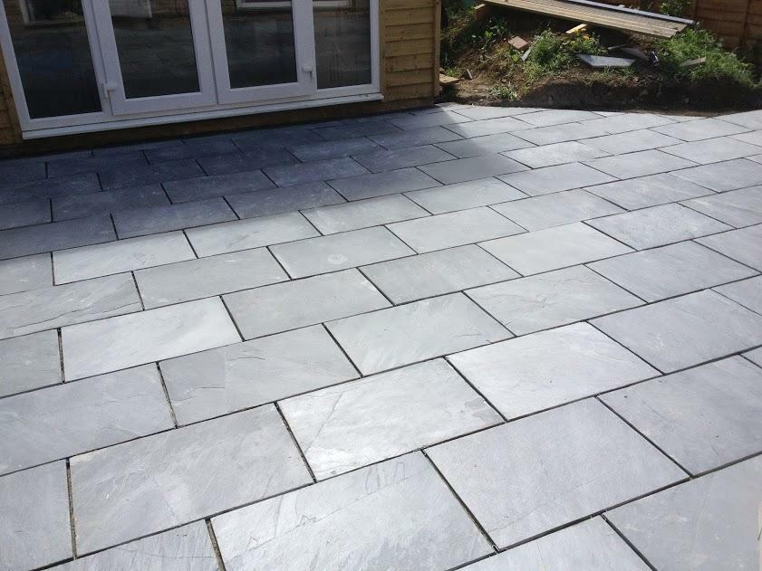 black slate paving patio garden slabs 24 m2 inc del