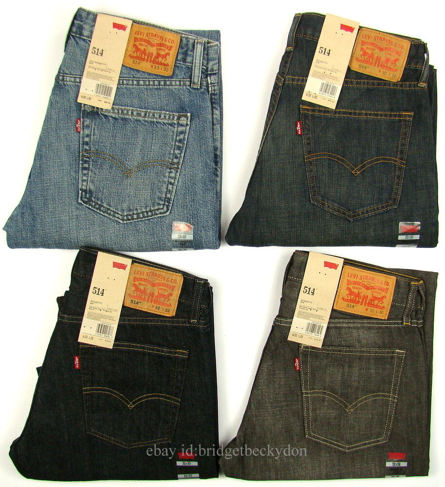 levis 514 jeans new mens slim straight levi 39 s 29 30 31 32 33 34 36 38 40 42 x ebay. Black Bedroom Furniture Sets. Home Design Ideas