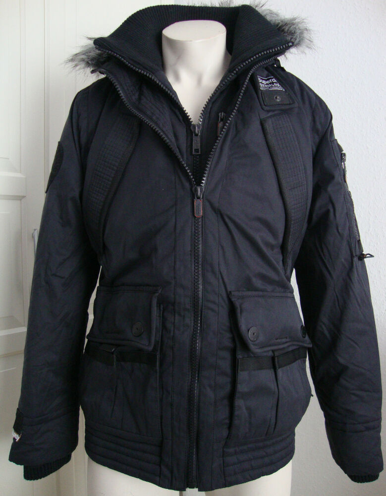 superdry patrol parka herren jacke waxjacke kapuze winterjacke schwarz gr l neu ebay. Black Bedroom Furniture Sets. Home Design Ideas