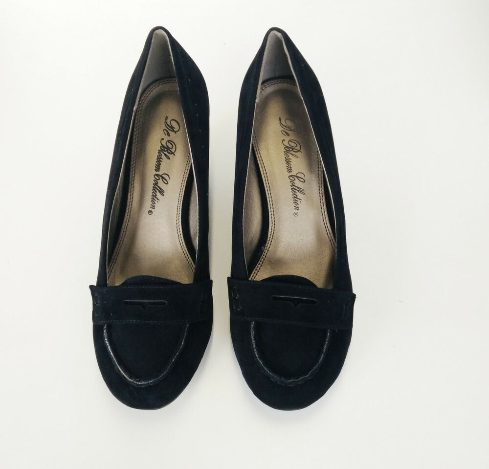 s loafer shoes 2 5 inches wedge heels colors black