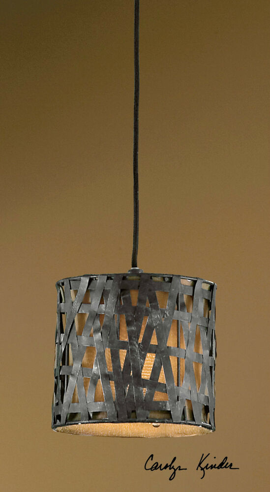 Rustic Metal String Lights : BLACK METAL HANGING METAL SHADE PENDANT LIGHT CEILING FIXTURE LIGHTS RUSTIC eBay
