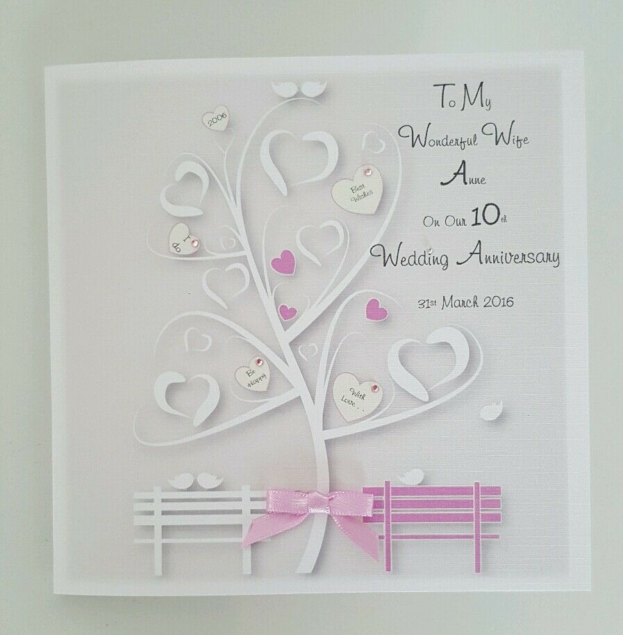 Personalised On Our 10th Wedding Anniversary Card Wife Husband 1st
